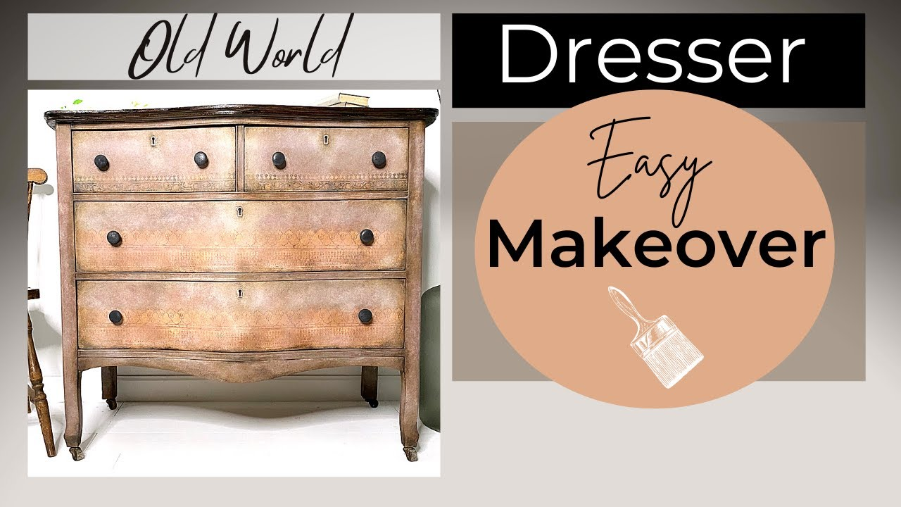 Chalk Painting Furniture: Creating a Custom Color Glaze and Decorative Wax with IOD transfers.