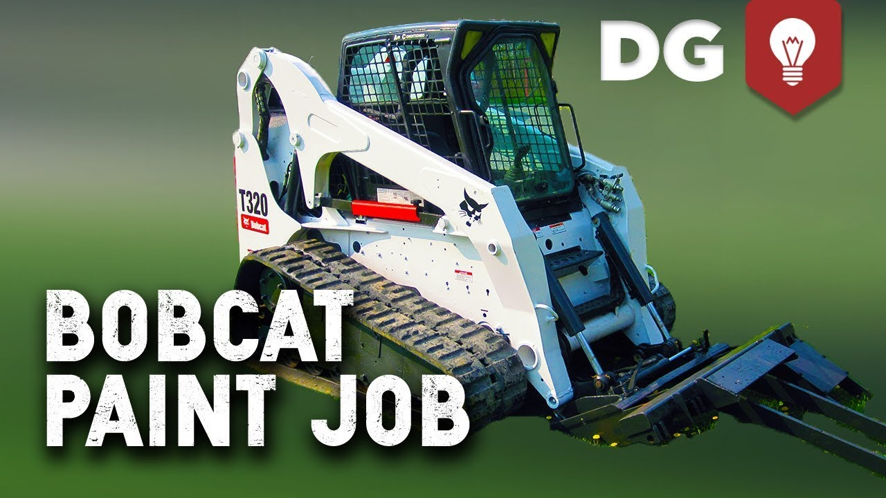 Bobcat Skid Steer Paint : How to paint a bobcat skid steer youtube