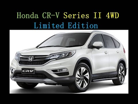 Honda CR-V Series II 4WD Limited Edition Launched