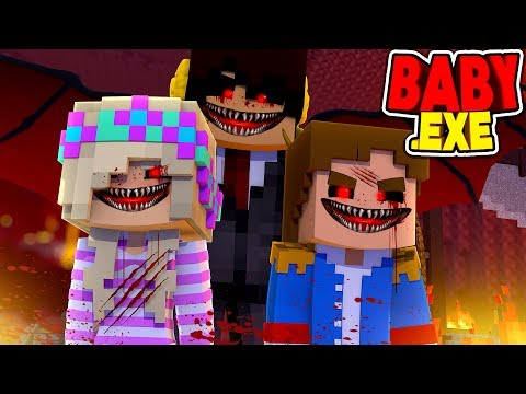 Minecraft BABY .EXE: THE BEGINNING OF BABY DONNY & BABY LEAH .EXE -  CREATED BY EVIL JOHNATHON!!