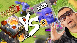 28 LANÇADORES VS CENTRO DE VILA 11 NO CLASH OF CLANS!!!