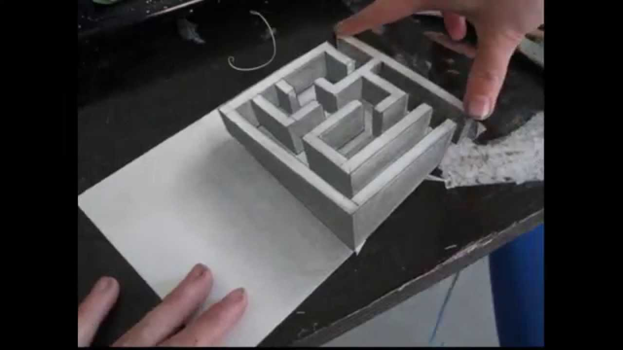 Tutorial 3d doolhof tekenen youtube for 3d meubels tekenen