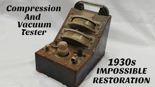 1930s Engine Tester Restoration ( IMPOSSIBLE Restoration ) Joseph Weidenhoff