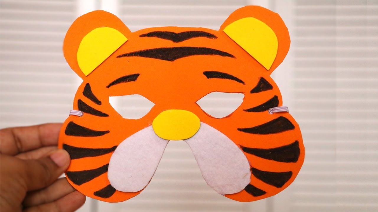 DIY Mask | How to make Tiger Mask for kids | DIY Birthday Gifts | Little Crafties & DIY Mask | How to make Tiger Mask for kids | DIY Birthday Gifts ...