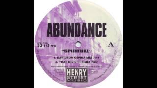 Abundance - Spiritual (That Kid Chris Mix) [1997]