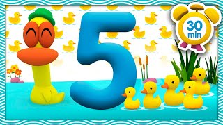 🦆🎶FIVE LITTLE DUCKS 🦆🎶 [ 30 minutes ] | Nursery Rhymes & Baby Songs - Pocoyo