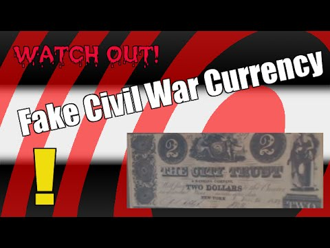 Fake Confederate Civil War Era U.S. Currency Paper Bills Money - Bergen Pickers