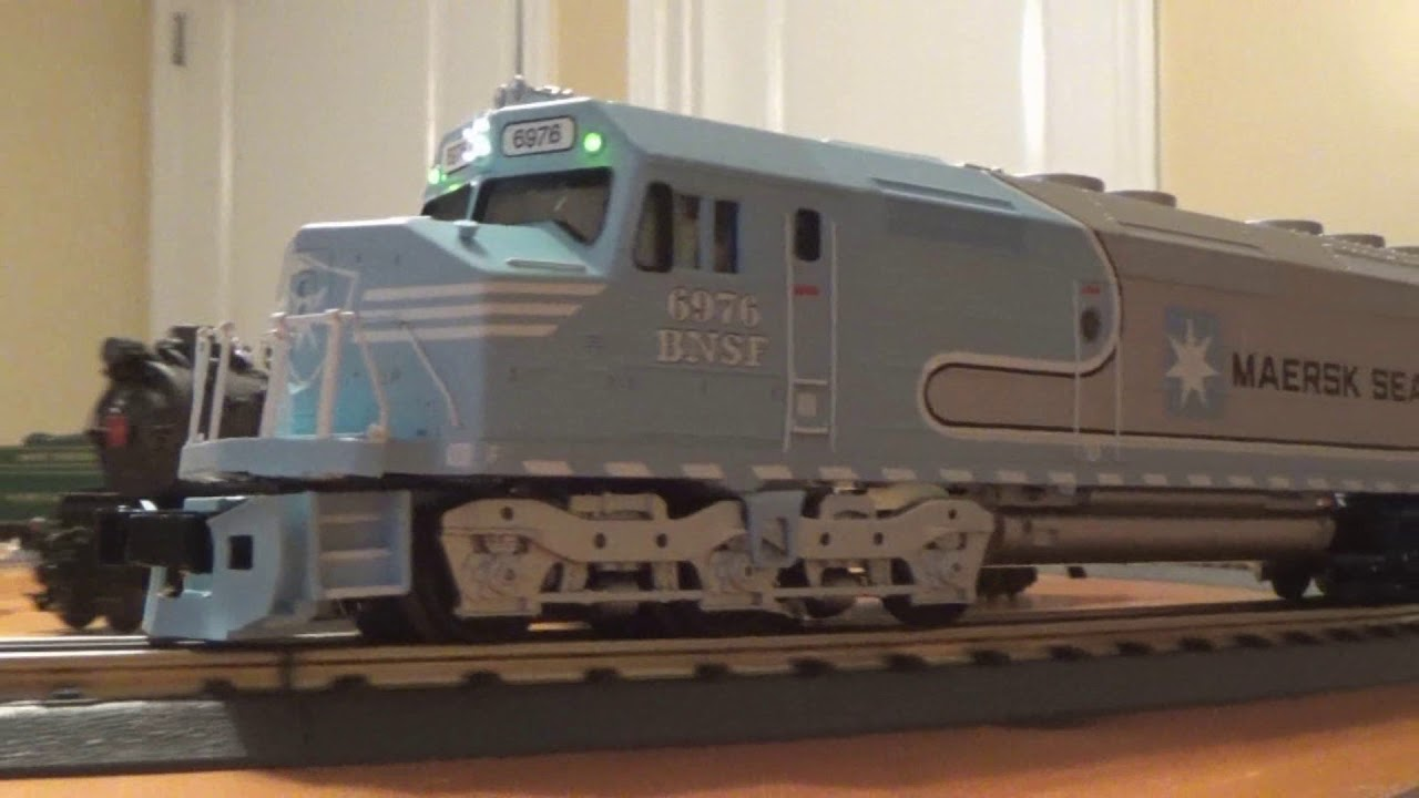 MTH Railking Scale Maersk Sealand FP45 With Protosound 3 0 Running Review