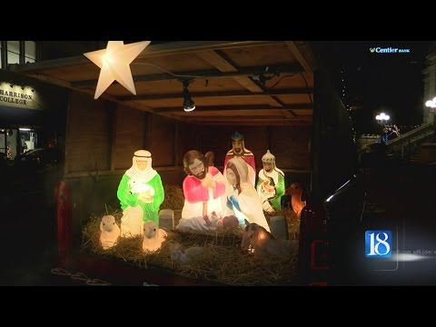 Mobile Nativity Scene Comes To Lafayette Courthouse For 17th Consecutive Year