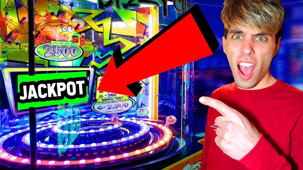 We Went on an Arcade Jackpot Marathon! (Crazy Unexpected WIN!)