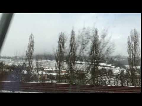 train in snow