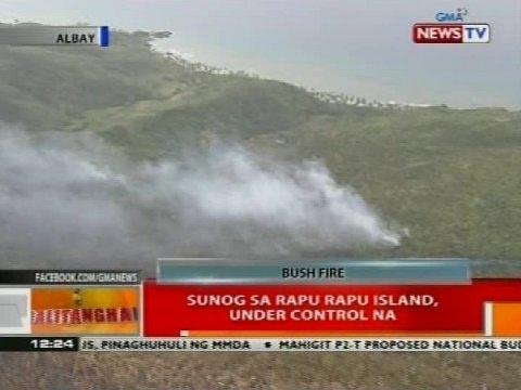 BT: Sunog sa Rapu Rapu Island, under control na