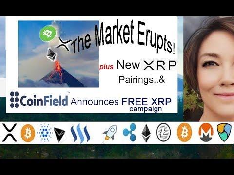 Market Erupts! BCH XRP ETH, CoinField FREE XRP, New OKEX XRP Margin Trade Pairings, Zaif Exchange