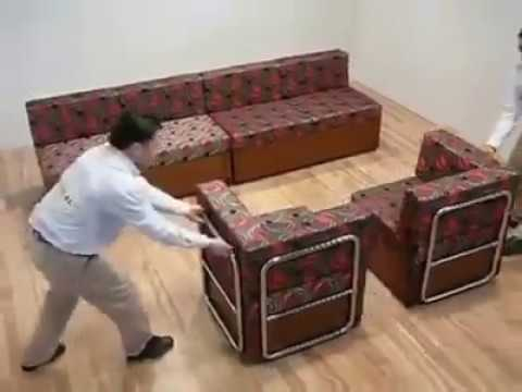 Multi purpose sofa set compact furniture design  YouTube