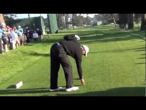 Tiger Woods 2012 US Open Olympic Club Full Practice Round Uncut