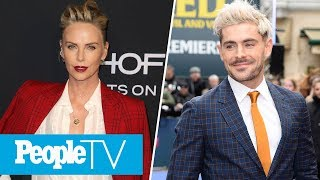Charlize Theron On 'Inappropriate' Producer, Zac Efron & Wax Figure Abs Showdown | PeopleTV