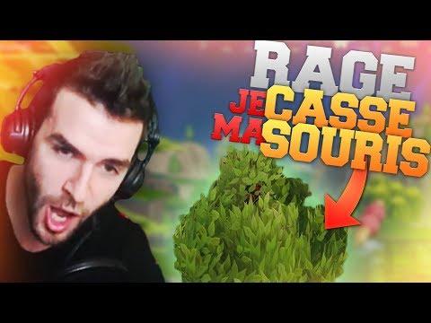 🥇 RAGE & DÉFI ► JE CASSE MA SOURIS À CAUSE DU BUISSON !! (Fortnite Battle Royale Fr troll)