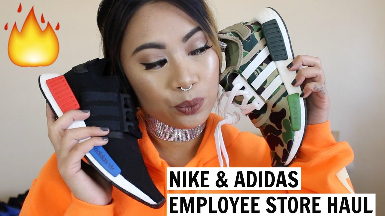 nike  u0026 adidas employee store haul