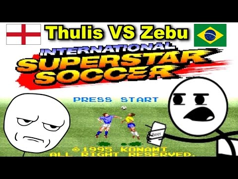 Jogando International Superstar Soccer (SNES) - Multiplayer Versus - Thulis vs Zebu
