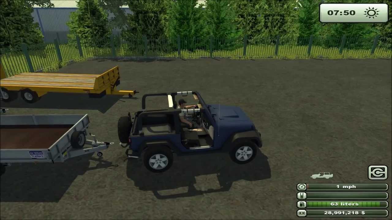 Mod for Farming Simulator 2013 Jeep Wrangler v 1 0 REVIEW - YouTube