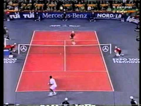 Pete Sampras great shots selection against Nicolas Kiefer (Masters 1999 SF) Videos De Viajes