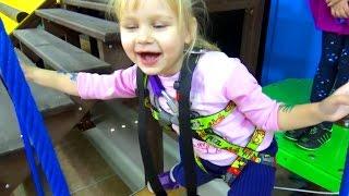Тарзанка развлечение для детей в развлекательном центре