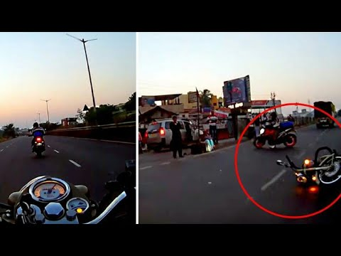 INSANE Royal Enfield Bullet crash at high speed shows how unpredictable Indian roads are [Video]