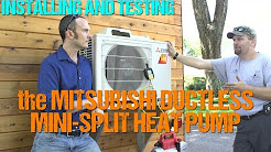 Installing & Testing a Mitsubishi Ductless Mini-Split in a Tiny House