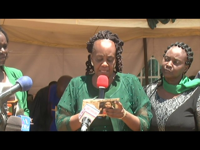 Ivy Wangechi's burial: Emotional mother eulogises daughter