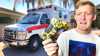 Winning Fortnite in an Ambulance Challenge