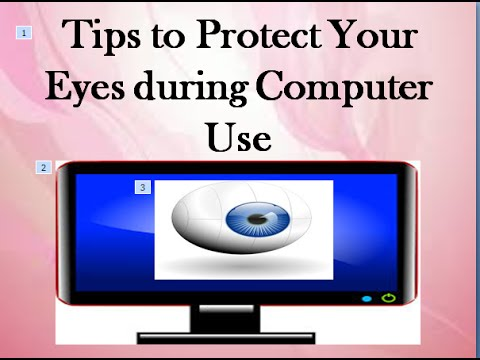 Eye care tips for computer users