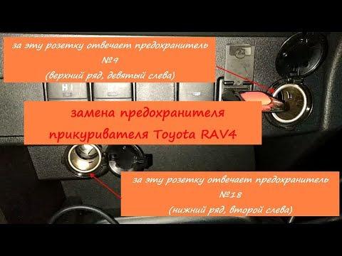 замена предохранителя прикуривателя Toyota Rav4 IV