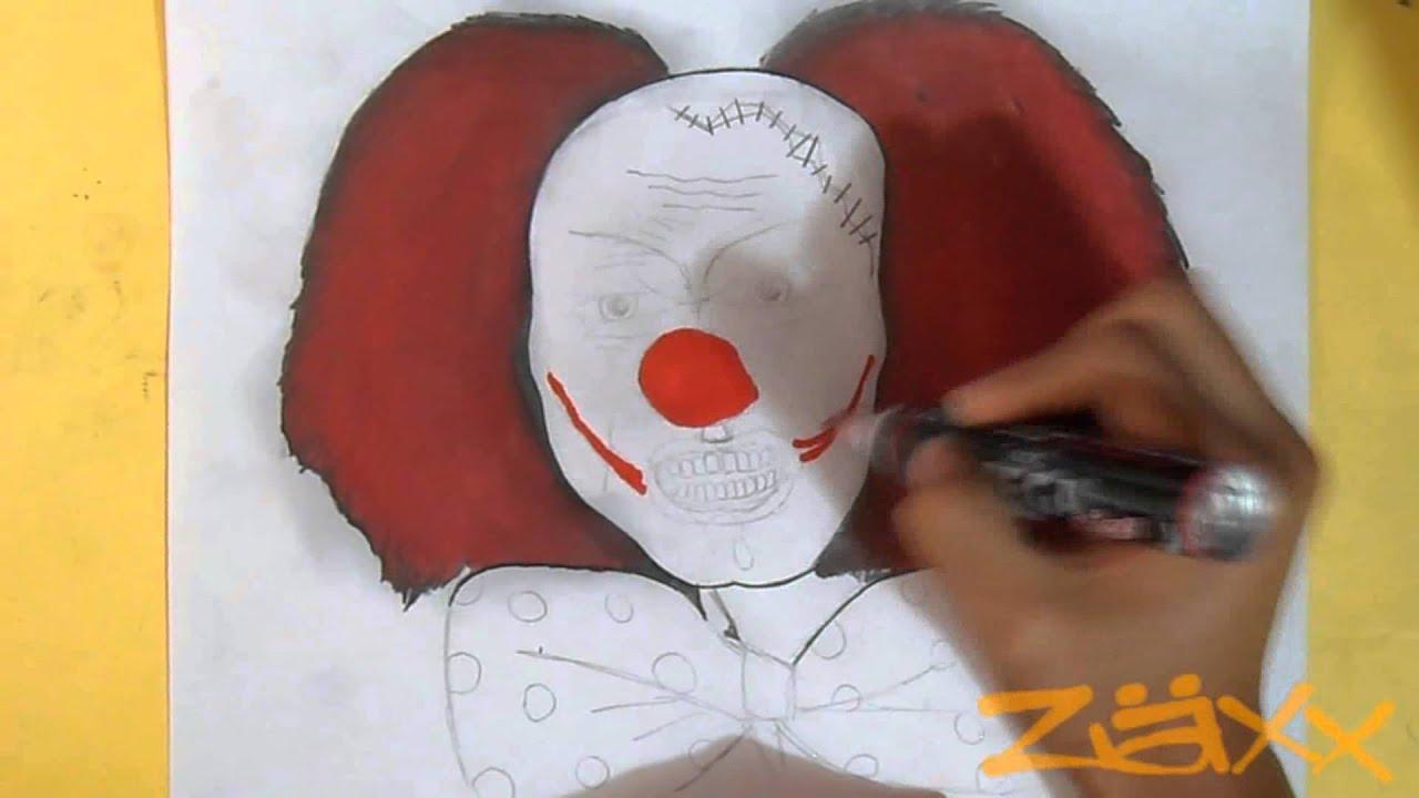disegno carattere pagliaccio graffiti youtube