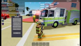 Roblox 🌴Fire Simulator: Coastal Heat🌴 V.3.5 Engine 33 responding to fires