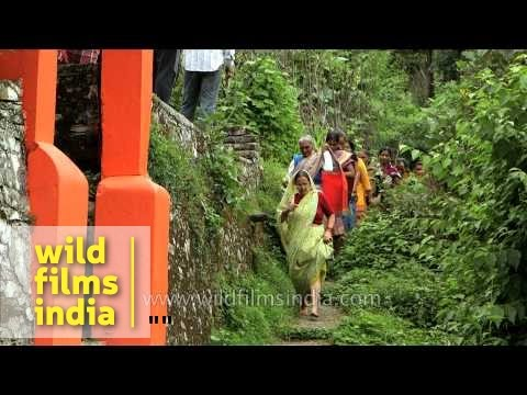 Devotees during Nanda Devi Raj Jat Yatra - Uttarakhand