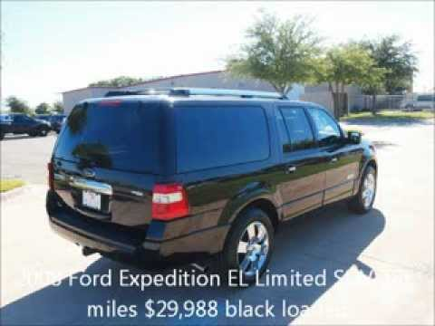 Ford Expedition El >> 2008 Ford Expedition EL Limited 4x4 SUV 48k miles black ...