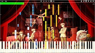 Ranpo Kitan: Game of Laplace ED - Mikazuki | Piano Tutorial, 乱歩奇譚 【ピアノ】