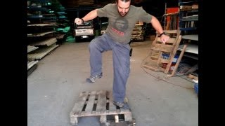 Recycled Pallet, How To Dismantle A Wooden Pallet Without Tools, Without Splitting The Wood