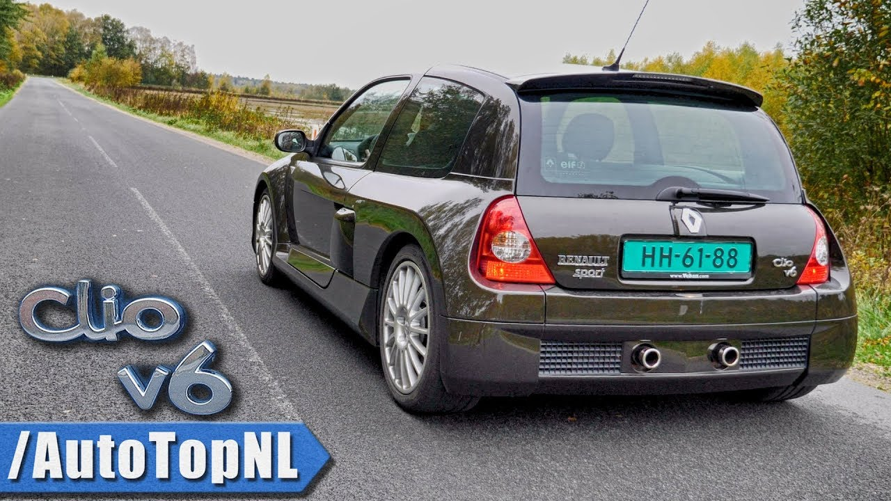renault clio v6 phase ii exhaust sound revs onboard by autotopnl youtube