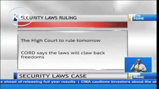 High court to rule on security laws case