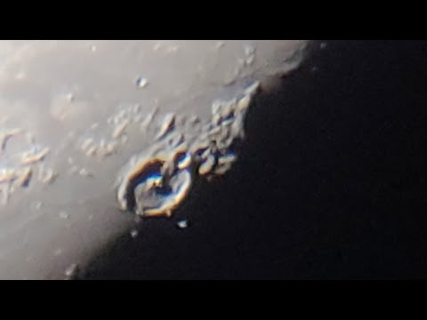 "Massive Anomaly inside Crater Looks like Giant Moon Base, Mega Zoom, Telescope 8"" Meade"