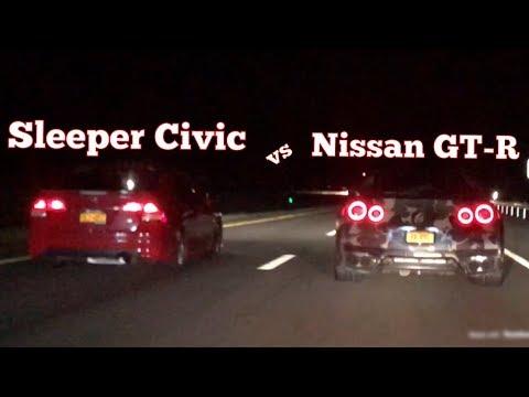 Sleeper Honda Civic vs Nissan GTR!!!
