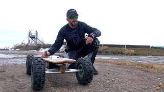 "Rc Adventures - Huge Radio Control Skateboard! Fiik Offroad Rc ""big Daddy"" & Losi Lst2 Xxl Mt"