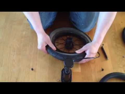 How to replace the inner tube in a stroller wheel. Easily Explained!