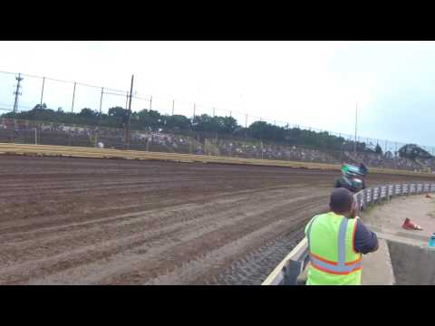 Sprint car hot laps at New Egypt Speedway 2017