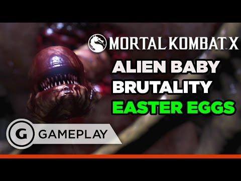 Alien's Baby Brutality Easter Eggs in Mortal Kombat XL