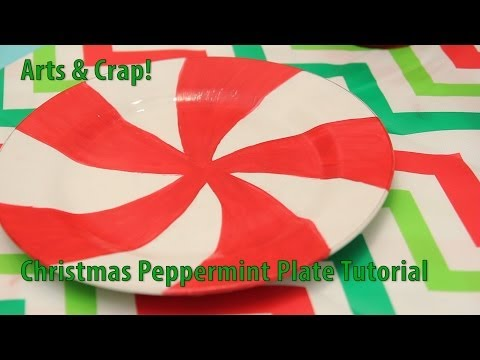 Easy Christmas Peppermint Plate Tutorial By Arts