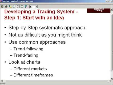 Markus Heitkoetter: Day Trading Series – Chapter III: Developing a Profitable Trading Strategy (…