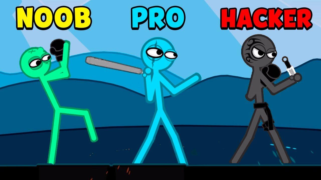 NOOB vs PRO vs HACKER - Slapstick Fighter
