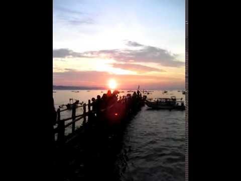Sunset Di pantai pangandaran Ciamis Jawa Barat